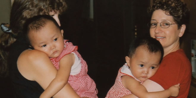 Chinese tweelingzusjes